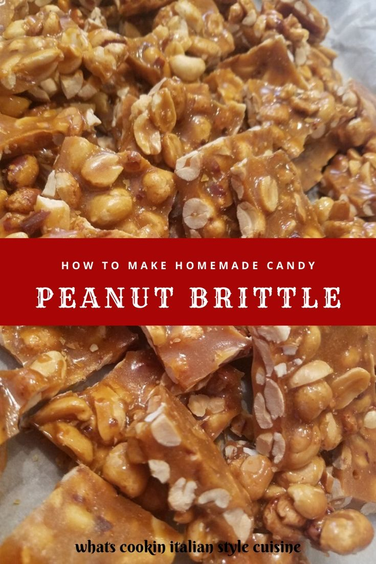 this is a pin for later on making homemade peanut brittle