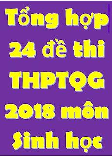 Tổng hợp 24 đề thi THPT Quốc Gia môn Sinh học 2018 - có đáp án