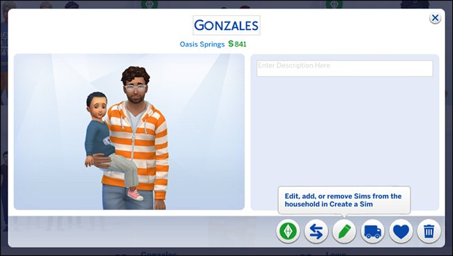 """أسرة تظهر شخصية ذكورية تحمل شخصية صبي صغير في """"The Sims 4."""""""