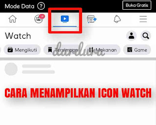 cara menampilkan icon watch di facebook
