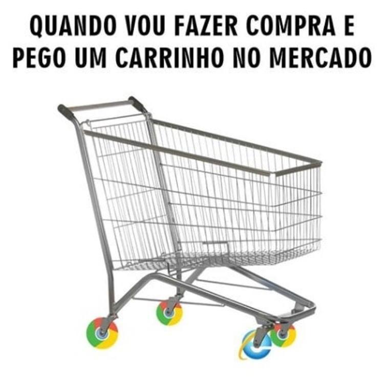 carrinho supermercado roda internet explorer