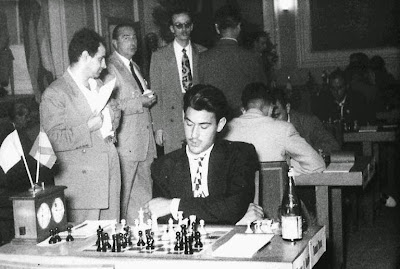 Román Torán jugando el campeonato de España de 1956