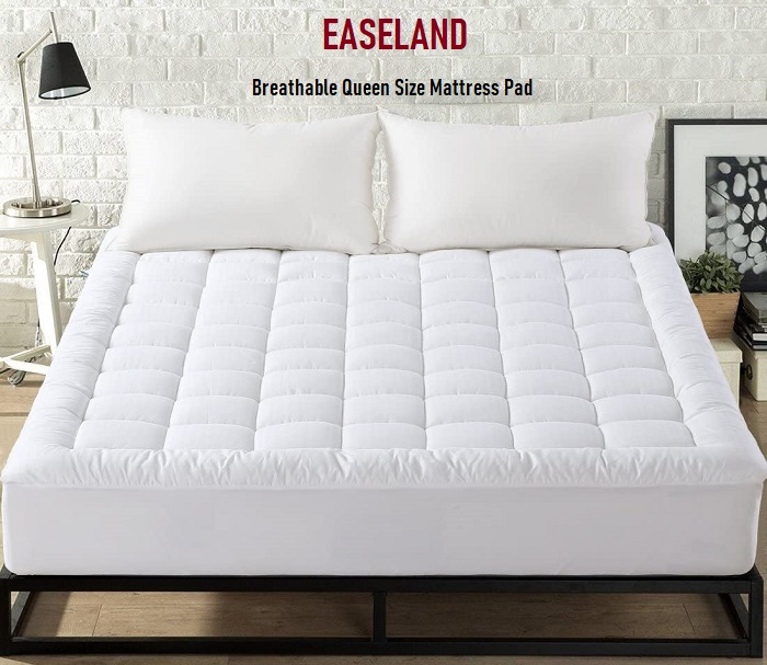 EASELAND – Breathable Queen Size Mattress Pad
