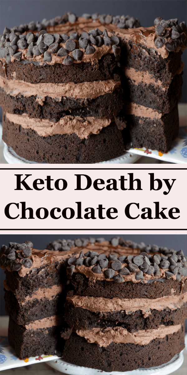 Keto Death by Chocolate Cake #Keto #Deathby #Chocolate #Cake #dessert #KetoDeathbyChocolateCake