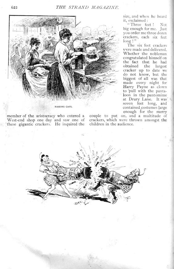 Making Christmas cracker hats - Strand Magazine  - Published December 1891