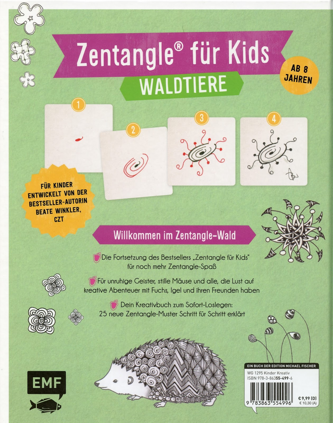 Review \'Zentangle® Für Kids, Forest Animals\' by Beate Winkler ...
