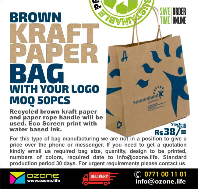 Brown Kraft Paper Bags with your logo.