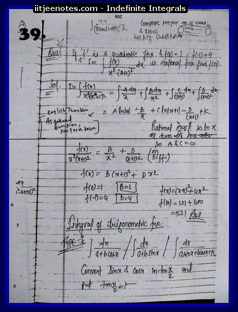indefinite integrals cbse2