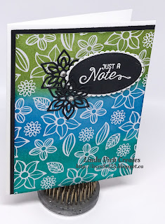 Linda Vich Creates: Ice Cream Sandwiches and Irresistibly Floral. A emboss resist card made with the Irresistibly Floral DSP for my stamping group projects.