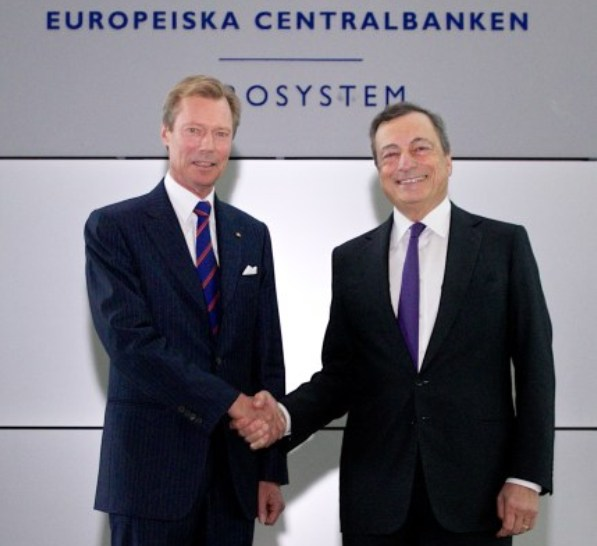 Grand Duke Henri visited European Central Bank in Frankfurt