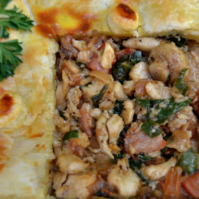 Bacon, Mushrooms, Cream, Spinach & more in this Best EVER Chicken Pie