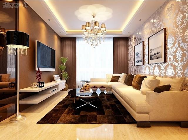 desain ruang tamu yang indah, nyaman dan menarik
