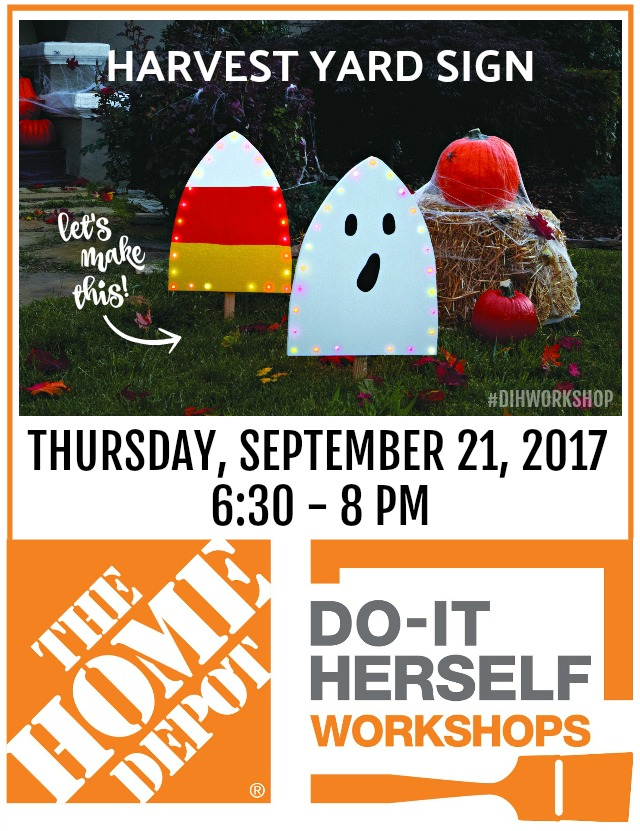 DIH Workshop harvest yard sign