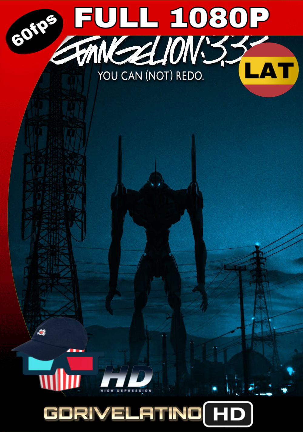 Evangelion: 3.33 (No) Lo Puedes Reahacer (2012) BDRip FULL 1080p (Latino – Japonés) MKV