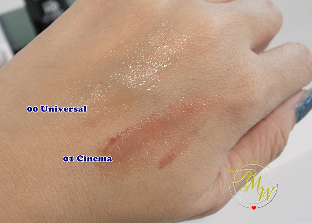 a swatch photo of Make Up For Ever Ultra HD Skin Booster and  Make Up For Ever Ultra HD Lip Booster