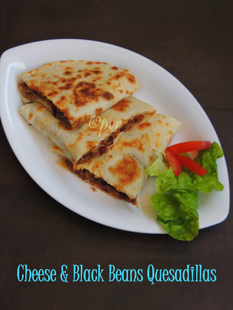 Cheese & Blackbeans Quesadillas