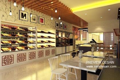 Desain Toko Roti Kue Bakery Shop Mewah Harga Murah