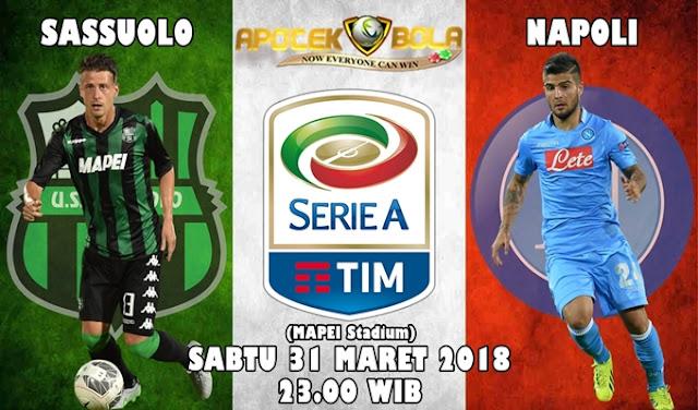 Prediksi Sassuolo Vs Napoli 31 Maret 2018