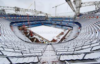 Manto Blanco cubrio el Santiago Bernabéu