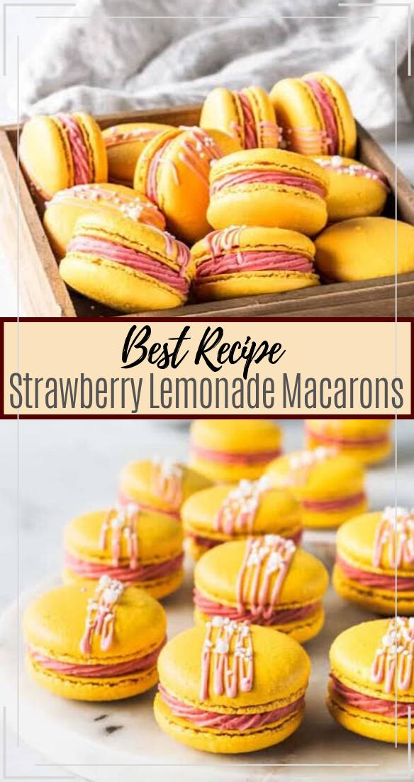 Strawberry Lemonade Macarons #desserts #cakerecipe #chocolate #fingerfood #easy