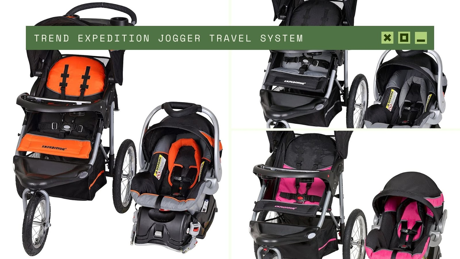shopping for newborn baby Trend Expedition Jogger Travel System
