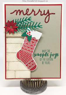 Linda Vich Creates: Christmas Crafting in Unseasonable November Heat. Pretty Pine Thinlits combine with Christmas Stocking Thinlits to create this lovely Christmas vignette.