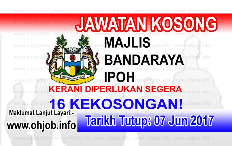 Jawatan Kerja Kosong MBI - Majlis Bandaraya Ipoh logo www.ohjob.info jun 2017