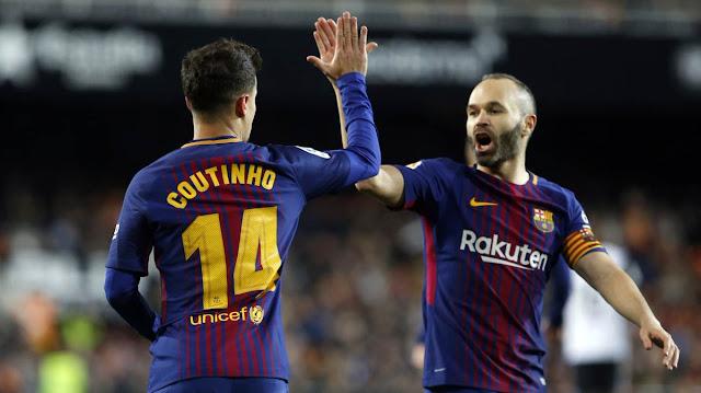 FC Barcelona, diez años dominando Europa coutinho iniesta