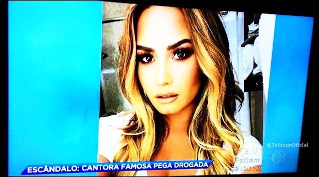 SENSACIONALISTA: Record TV é detonada após matéria sobre overdose de Demi Lovato