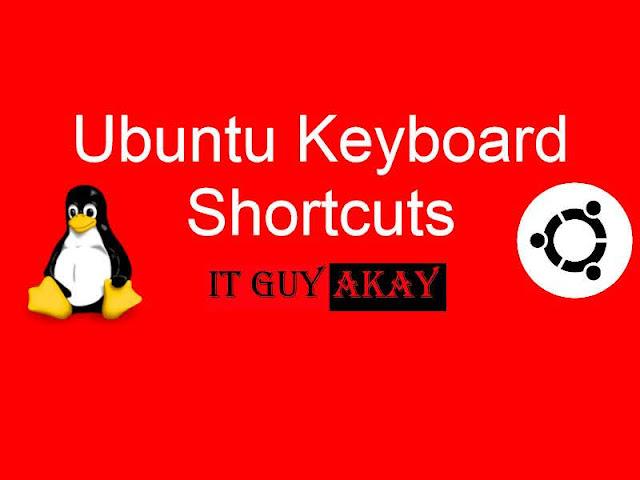 keyboard shortcut linux ubuntu