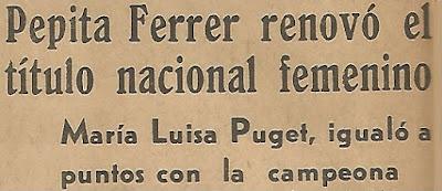 VIII Campeonato Femenino de Ajedrez de España, recorte de Marca, 13/3/1964