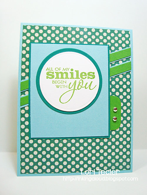 All of My Smiles Begin with You card-designed by Lori Tecler/Inking Aloud-stamps from Verve Stamps