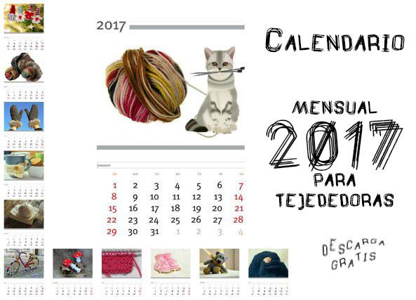 Calendario mensual 2017 para tejedoras