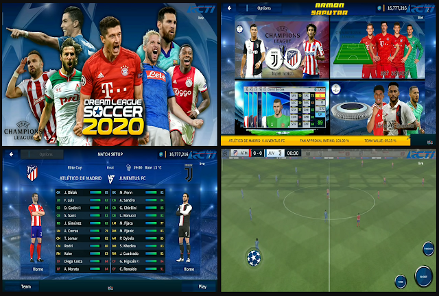 DLS 2020 Mod Champions League HD Graphics