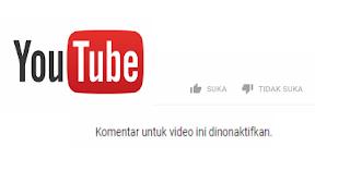 komentar pada video yang kita unggah di youtube √  Cara menonaktifkan like,dislike maupun komentar pada postingan video di youtube melalui android