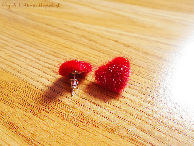 Fuzzy Valentine's Day Heart Stud Earrings