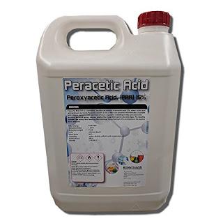 Nu-Cidex, bahannya adalah peracetic acid.