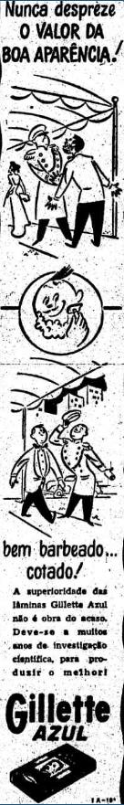 Propaganda antiga da Gillette Azul no início dos anos 50