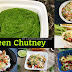 Green chutney/Green chutney for chaat/Side dish for roti and paratha