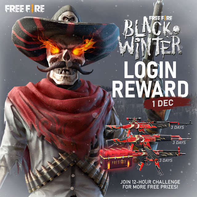 Event Free Fire Terbaru Desember Black Winter Grandprize Mr Death Bundle
