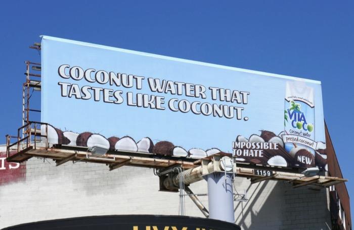 tastes like Coconut Water Vita Coco billboard