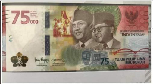 """Pecahan Uang Rp 75 Ribu Sudah Mulai Diterbitkan, """"Oh Jadi Ini Itu Untuk Souvenir HUT RI Aja, Pintar Juga Ya Pemerintah"""""""