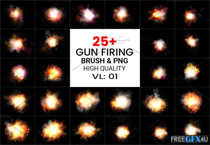 PS Gun Firing Brushes & Png Pack