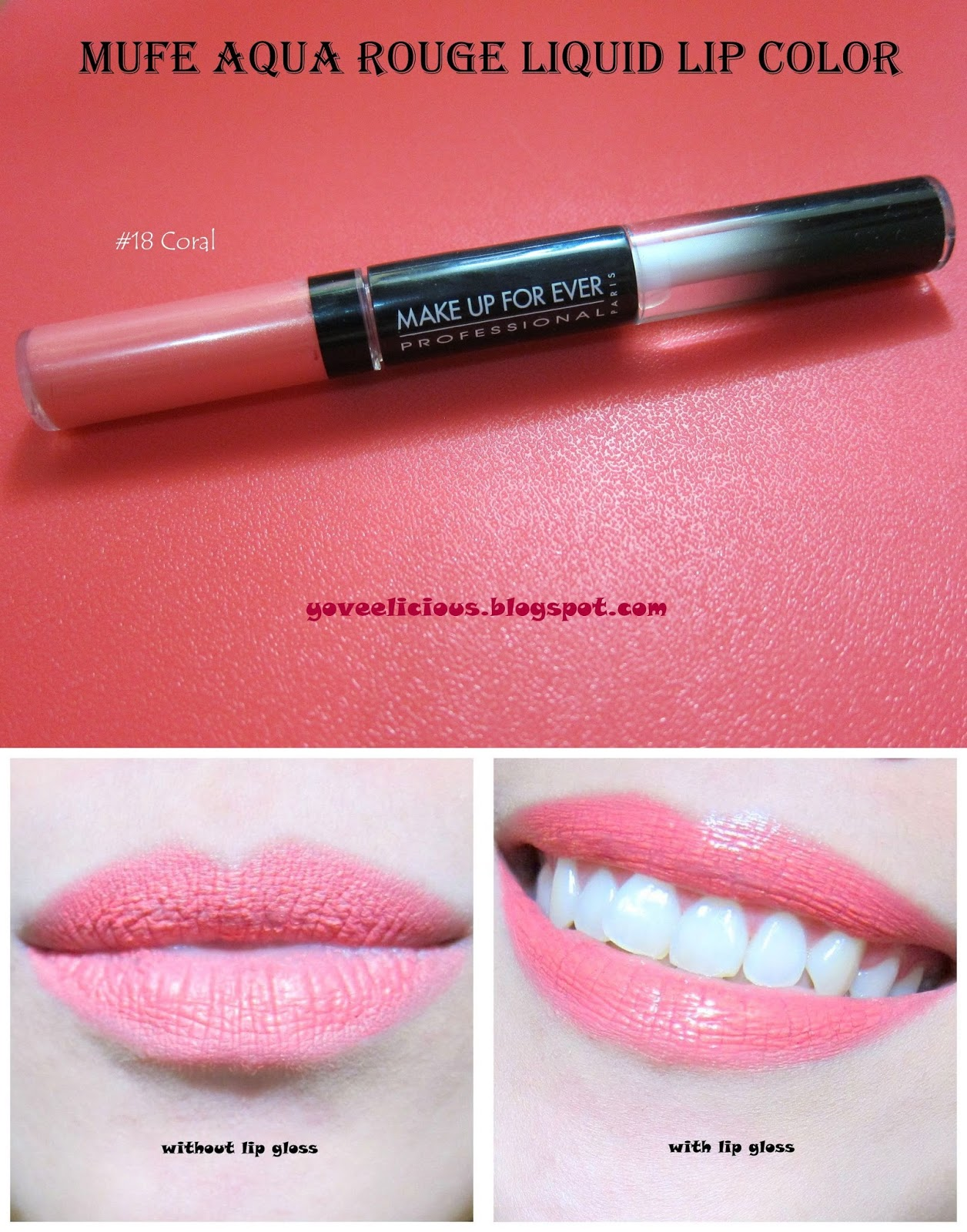 yoveelicious make up for ever aqua rouge liquid lip color review and swatches. Black Bedroom Furniture Sets. Home Design Ideas