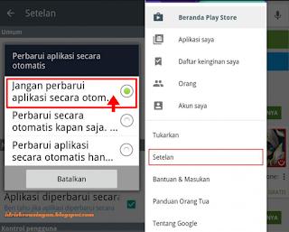 Menghentikan Update Otomatis Aplikasi Android