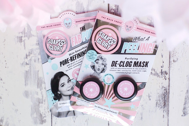 soap & glory face masks sheet mask pore problems pore-refining pore refining de-clog mask what a peeling the fab pore oily skin skin care large pores
