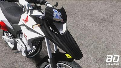 Mod, Moto, Honda XRE 300 Laranjeira do Grau para GTA San Andreas, GTA SA