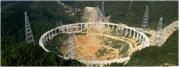 o maior radio telescopio do mundo - china - fast
