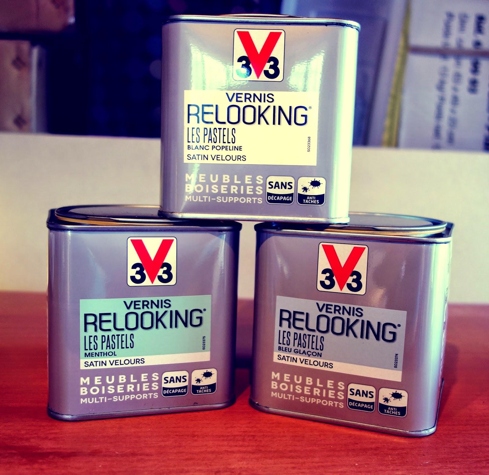 Vernis relooking v33 blanc resine de protection pour Peinture sur meuble vernis
