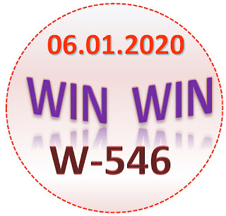 Kerala Lottery Result Win Win W-546 dated  6.1.2020